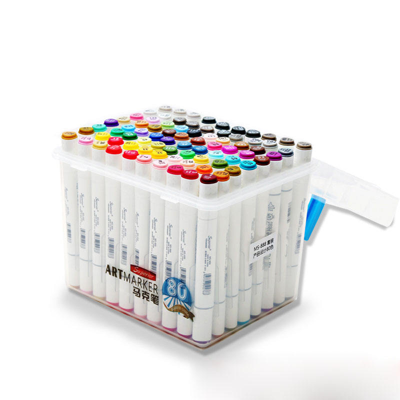 customized alcohol ink based dual tip art marker pen