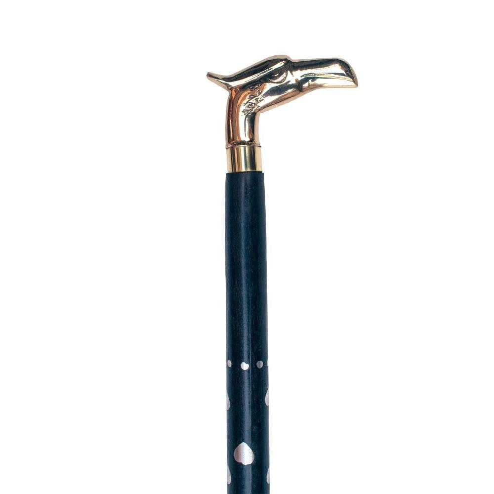 High Quality 34 Inch Folding Dismantle Wooden Cane Walking Sticks with Brass Beautiful Eagle Grip Handle WS1874