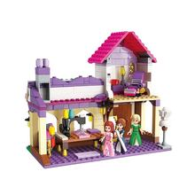 Enlighten friends building blocks girl toy puzzle girl princess dream skillful dress shop 2606 assembled castle fairy