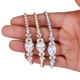 Weiman Jewelry New Arrival Large Pear Shape Cubic Zirconia CZ Crystal Allure Tennis Bracelets