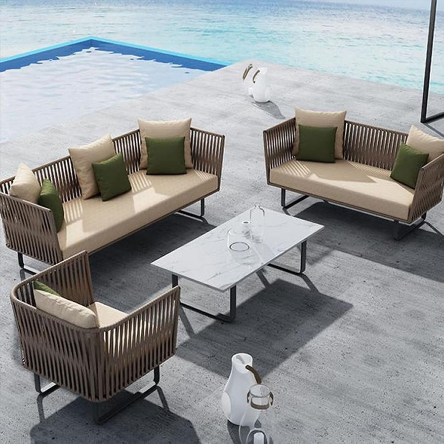 Кафе Бохо любую погоду 4 шт Открытый Пляж ротанга плетеная мебель индия