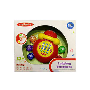 Multi Function Musical Telephone Clocks Ladybug With Bells Ring Educational Development Toys for Kids