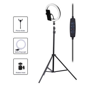 YouTube live broadcasting lamp 10inch led dimmable ring light stand selfie light ring with phone holder