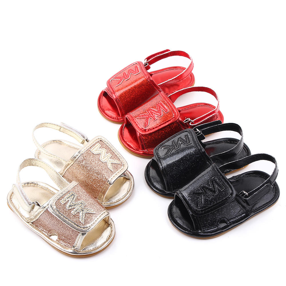 Wholesale high quality kids shoes anti-slip PU leather baby boy girl sandals