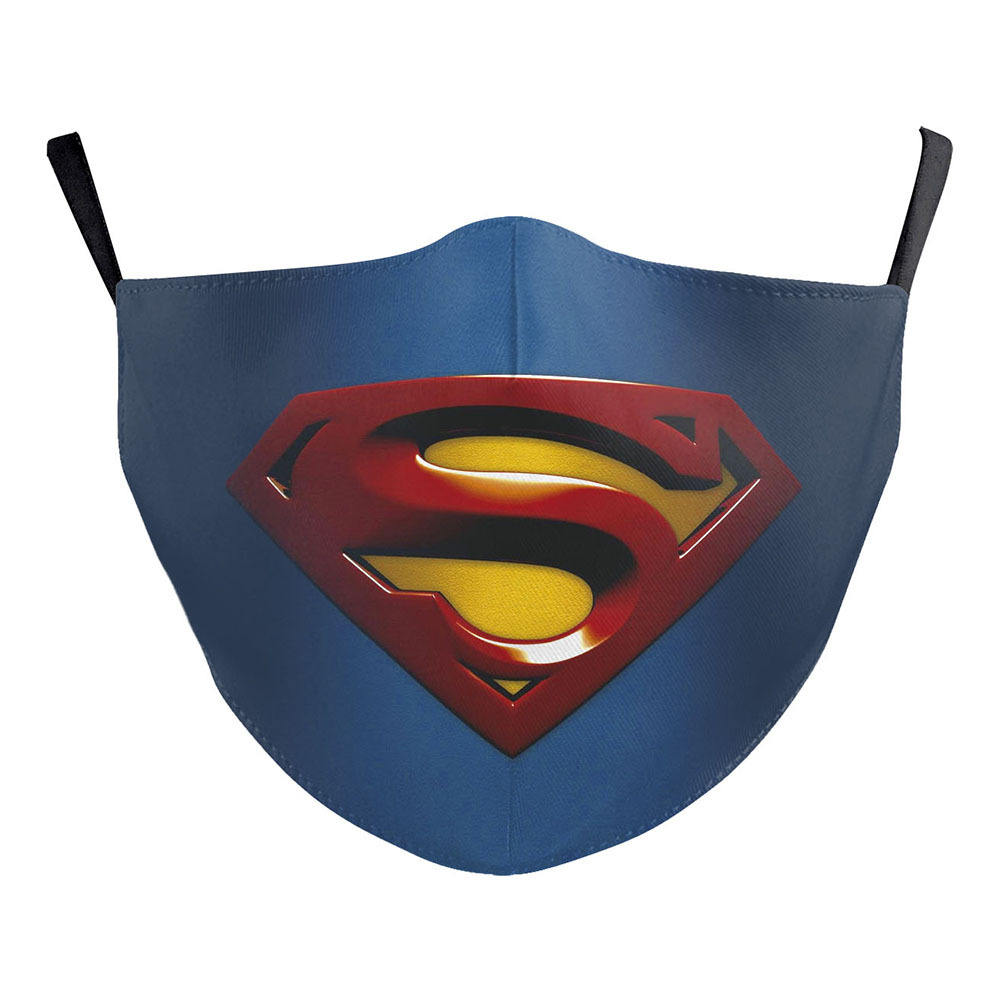 2021 Hot Selling Custom size&logo Super man facemasks sublimation printed dust facemask