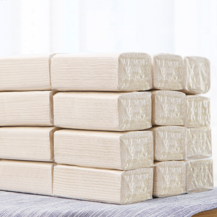Small Wholesale Portable Bamboo Pulp Paper 3 Layers Natural Paper Towel Papers Toilet Paper