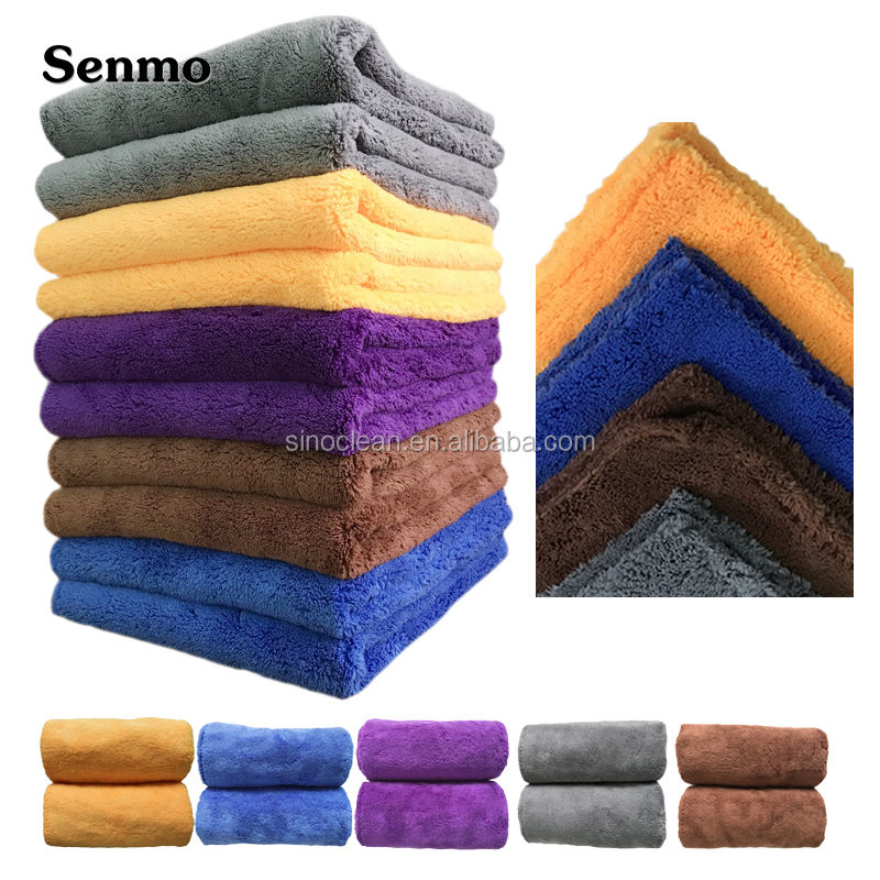 Coral Fleece Car Wash Towel Thickened Absorbent And Non-shedding 600gsm Car Wiper Clean Square Towel