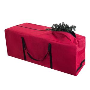 Wholesale Larger capacity Red Rolling Duffle Bag Style Christmas Tree Storage Bag with Wheels