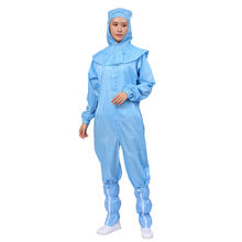 Antistatic Workwear ESD Cleanroom Uniform Smock Suit with Shawl Cap