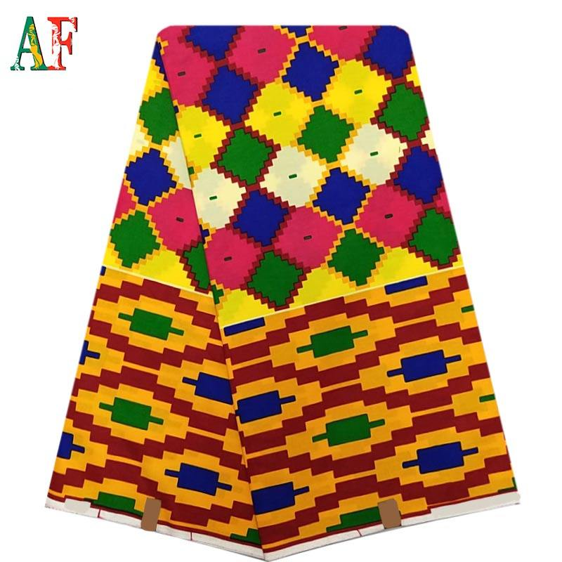 AF New Design African Soft 100%Cotton Wax Fabric Holland Quality Kente Wax Printing Fabric
