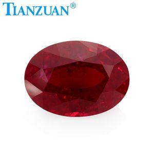 1 mm redondo Natural Rojo tailandés Gema Granate Piedra Preciosa