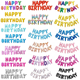 Wholesale Party Decoration 16 Inch Happy Birthday Letter Balloon Set Individual Card Packs