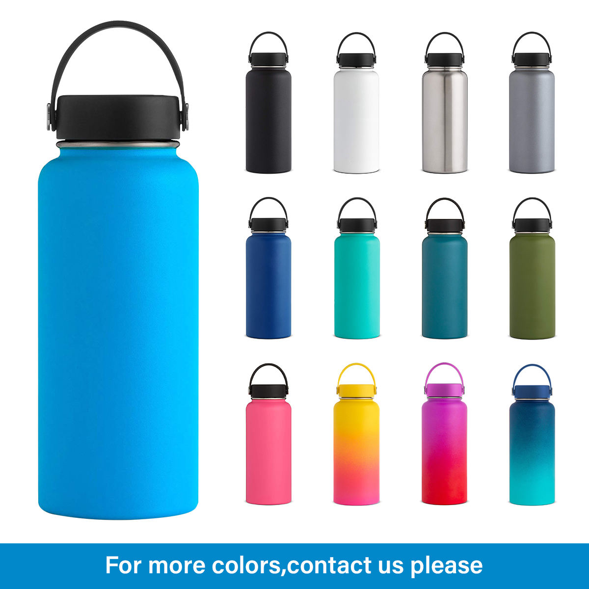 Sports Water Bottle [ Water Bottle ] Water Bottles Wevi High Quality Double Wall Vacuum Insulated Stainless Steel Sport Water Bottle With Straw Wholesale