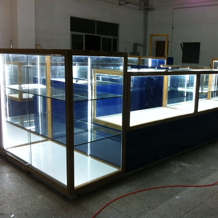 Customer size toy model glass display cabinet commercial