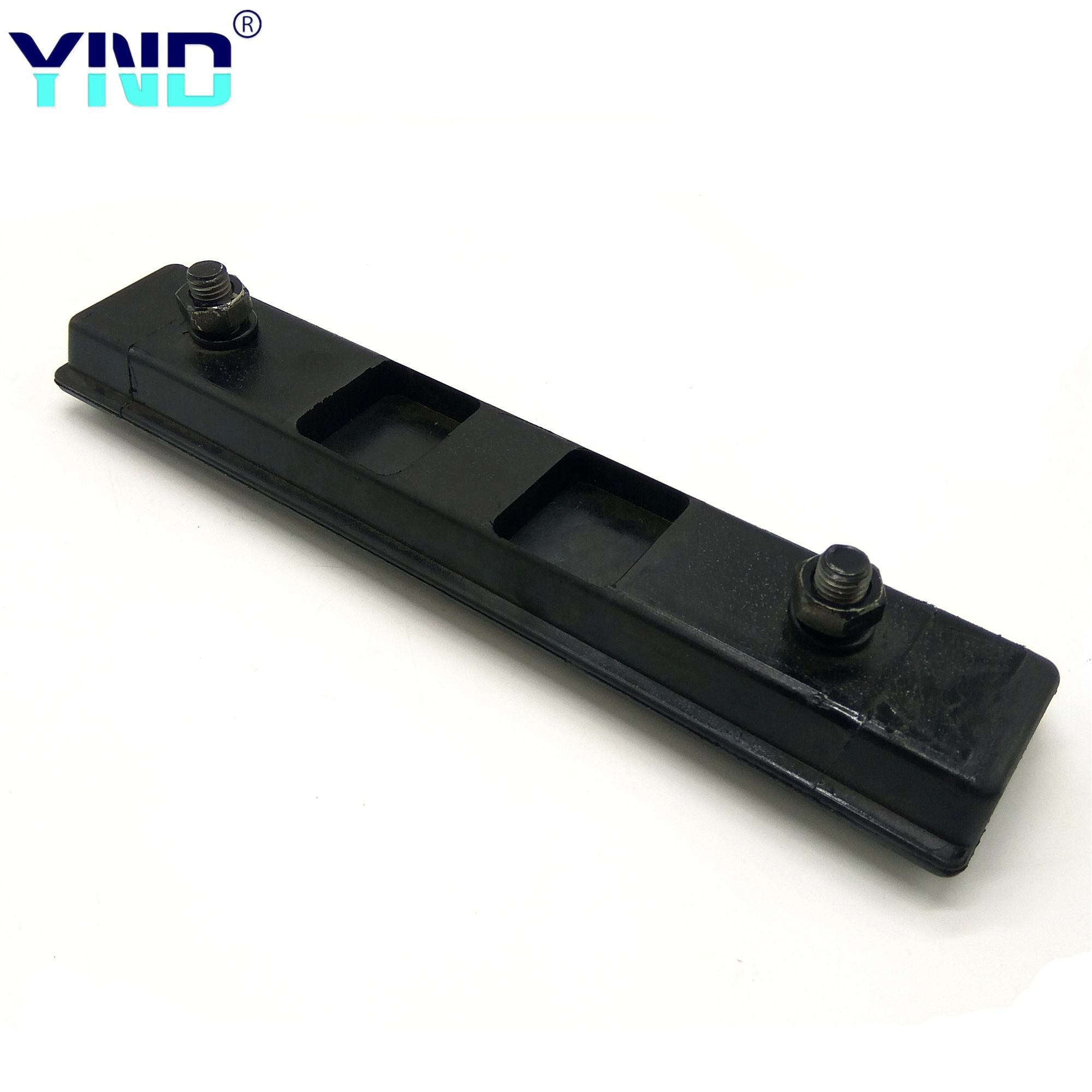 black rubber track link shoe rubber track pad for caterpillar