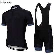 Custom jersey cycling team cycling shirt and bibshort set short sleeve black cycling jersey mens