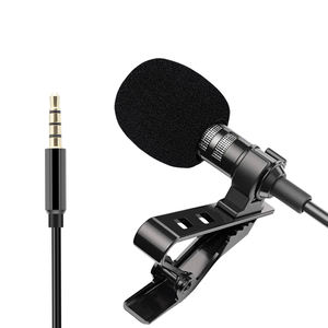 Best selling 3.5mm port lapel mic mini portable condenser lavalier microphone for smartphone
