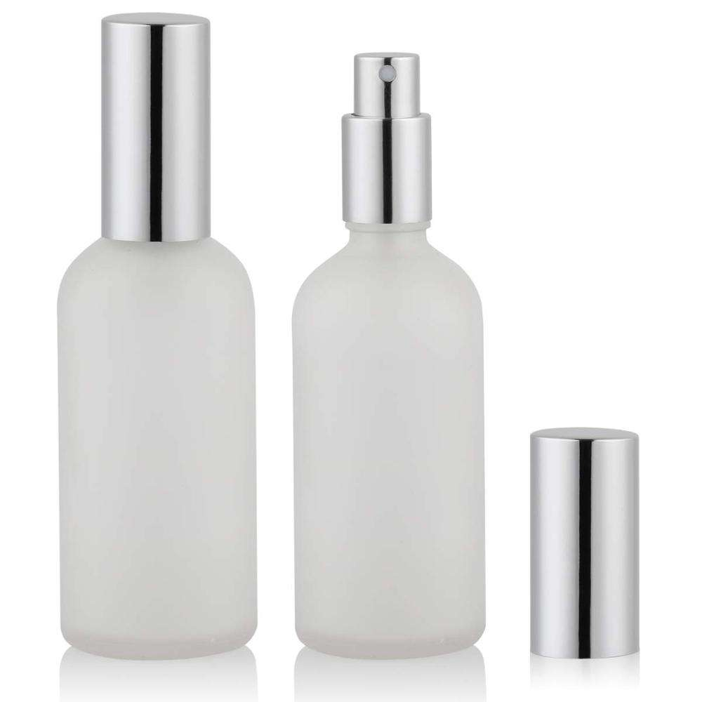 Factory production cosmetic packaging lotion pump bottle frosted glass bottle