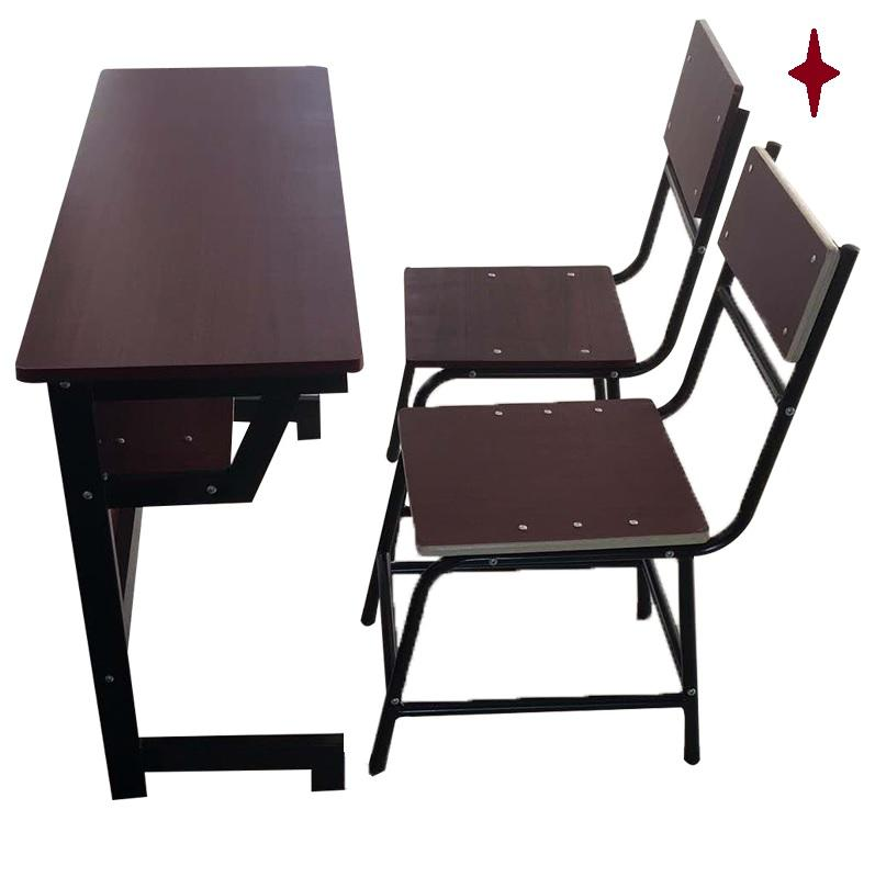 High quality 2-person desk and chair School library Reading desk and chair school furniture