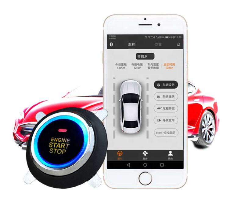 GPS GSM Two Way Keyless Entry Remote Start Vehicle Car GPS Tracker with Android Ios App, Wholesale Vehicle GPS Tracking System