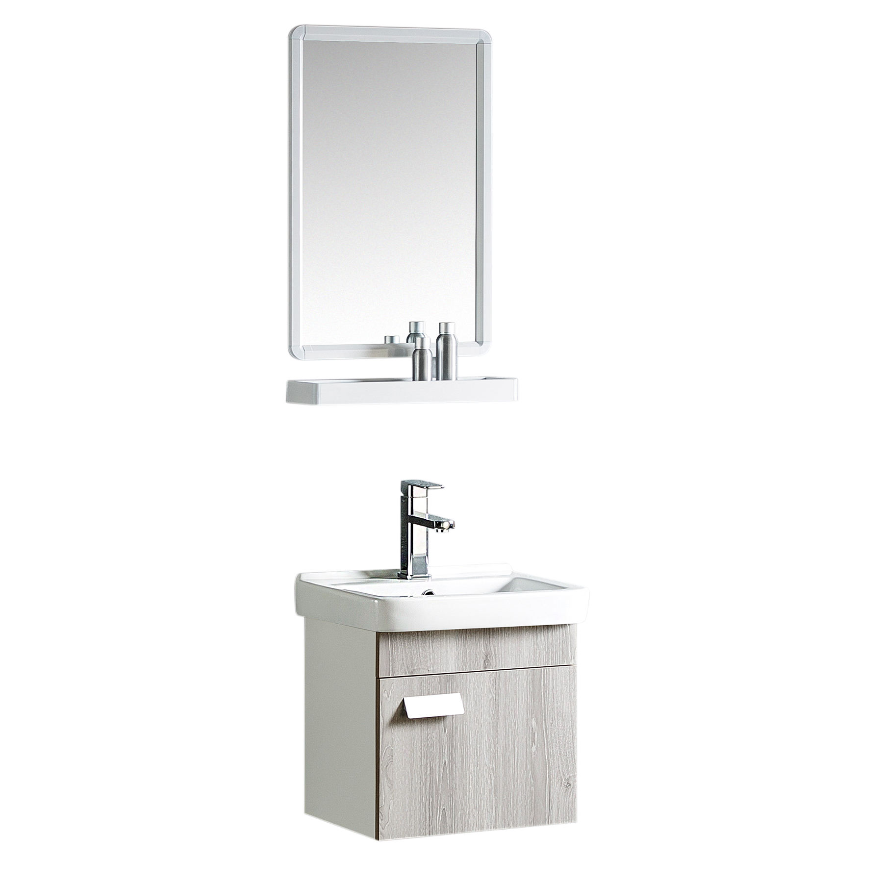 Cheap Price Waterproof Small Size PVC Bathroom Cabinet PVC Bathroom Vanity 6518-18''
