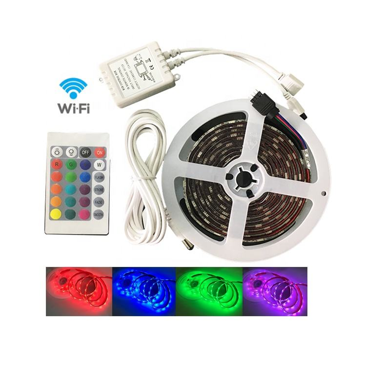 tiras luces led wifi 3528 5050 rgb 5m 120 ledm ip68 led strip