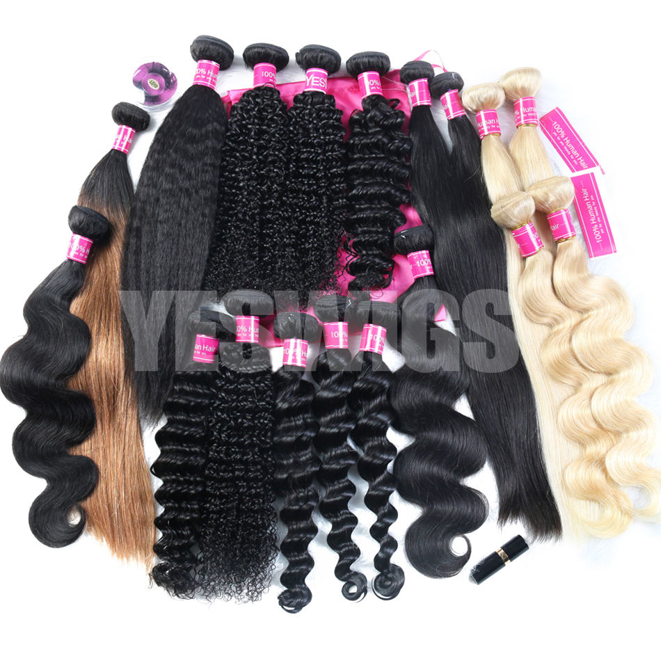 Wholesale Mink Brazilian Human Hair Weave Bundles with Closure Raw Mink Indian Human Hair Extension Virgin Cuticle Aligned Hair