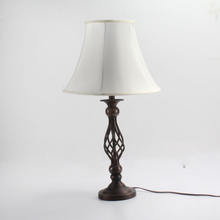 iron light base KD TC fabric lampshade  home decorative table light for bedroom  restaurant  table lamp for home or hotel