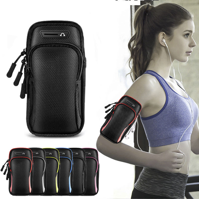 SKOMIASU Unisex Waterproof Phone Holder Fitness Mobile Bag for iPhone Under 6.5 inch Armband Sports Phone Case For Running