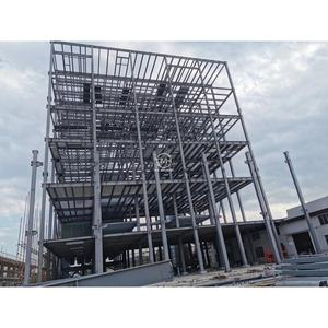 Storey Multilayer Commercial Usage Prefabricated High Rise Steel Structure Building