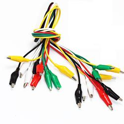 Alligator Clips 50cm Electrical DIY Test Leads Alligator Double-ended Crocodile Clips Roach Clip Test Jumper Wire