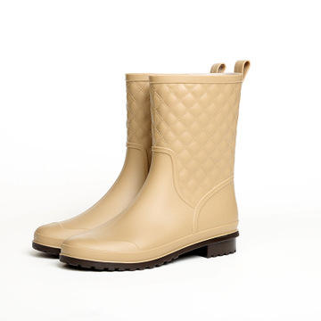 Fashion Trendy New Arrive Outdoor Mid-Calf Waterproof 42 43 PVC Ladies Women Rain Boots