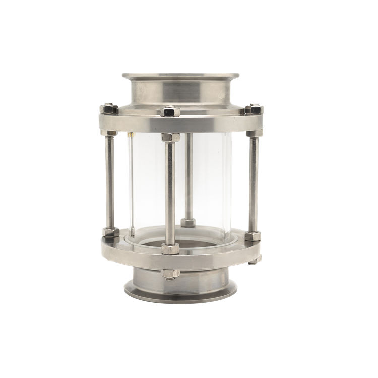 Sanitary Tubular/ Inline Stainless Steel Round Sight Glass With Glass Tube