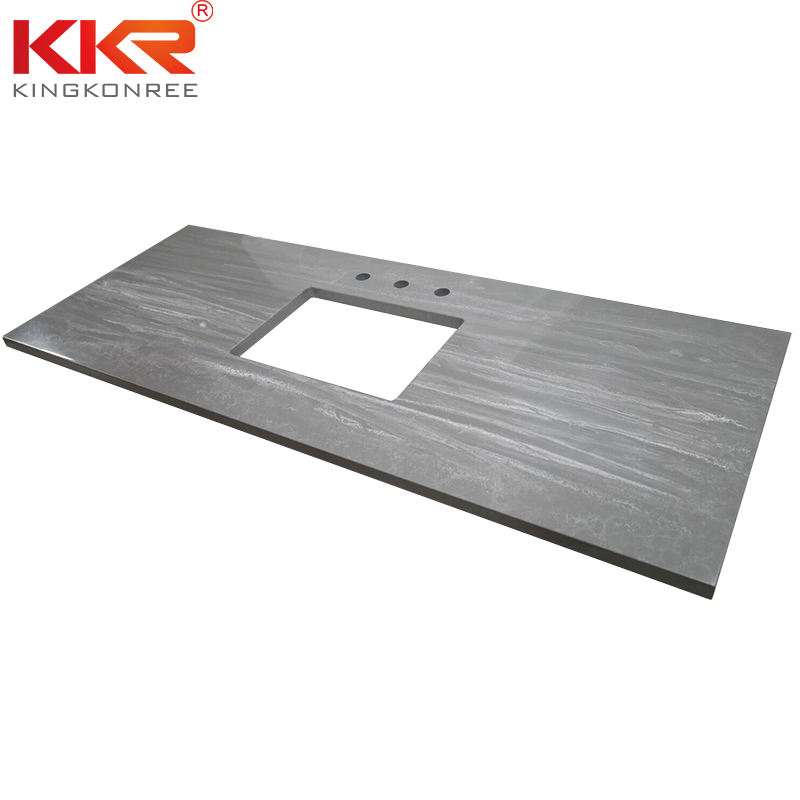 High Quality Custom Size Marble Solid Surface Stone Vanity Top Kitchen Bench Tops