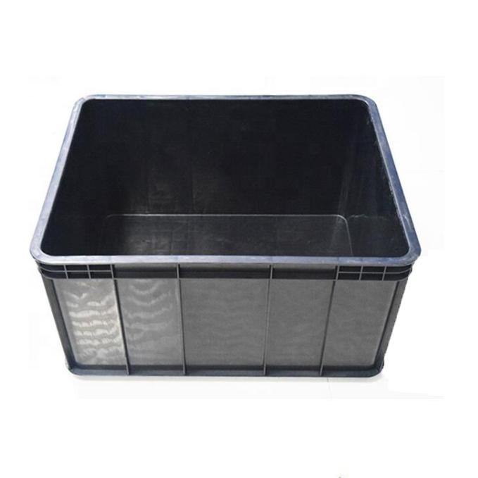 400*300 mm PP plastic black box black ESD storage box for electronic products