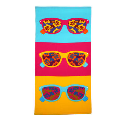 High Class Velour Reactive Printing Personalised Custom Beach Towel 100% Cotton