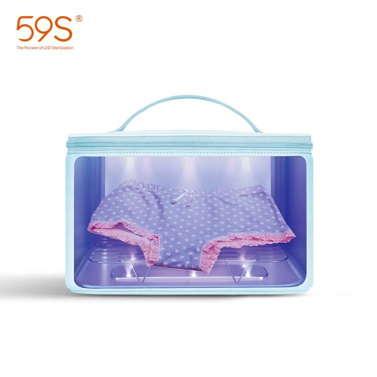 free sample 59s Led Uv Sterilizer Bag Baby Bottle Watch Underwear Disinfection Bag Uv Sterilizer Box