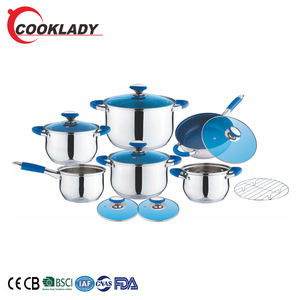 New Products Kitchen Pots Pans Induction 13Pcs Kitchen Cooking Pot Stainless Steel Cookware Nonstick Cookware Set