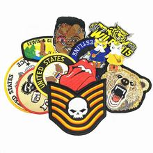 Custom Your Own Iron On Embroidered Patches For Clothing, Custom Name Logo Embroidered Patches