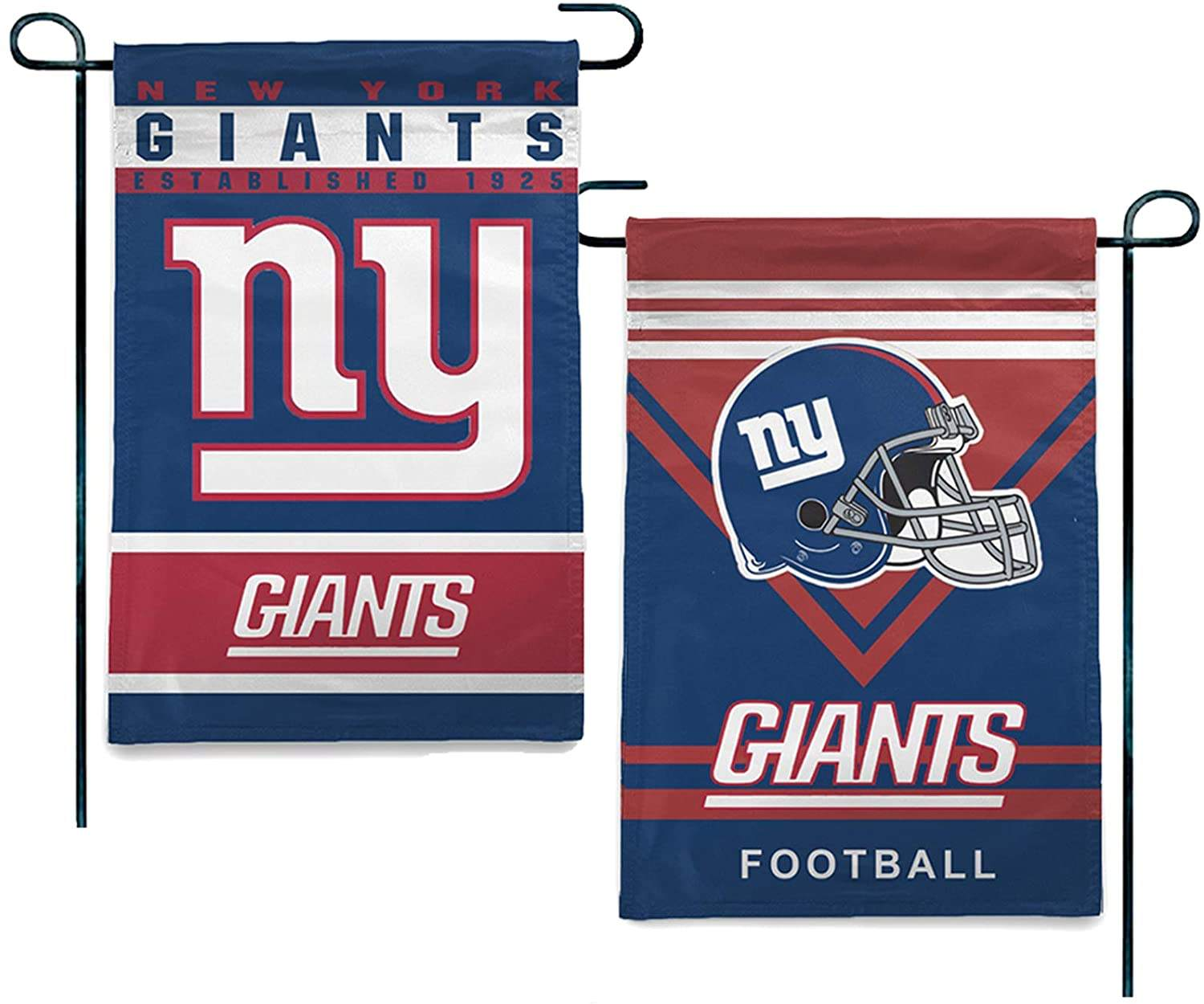 Wholesale High Quality 12x18 inch Double Sided New York Giants NFL Outdoor Decorative Yard Banner Garden Flag