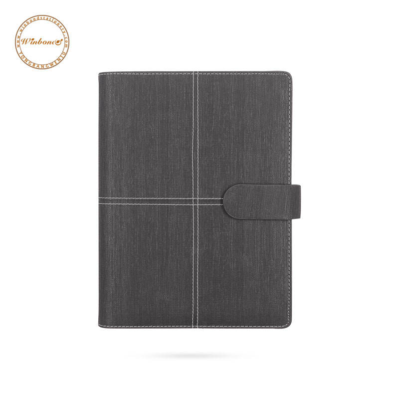 Customized A5 pu leather cover planner note book with ring binder