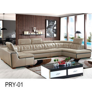 Top quality living room furnitures leather sofa cum bed/Chinese manufacturer recliner corner sofa