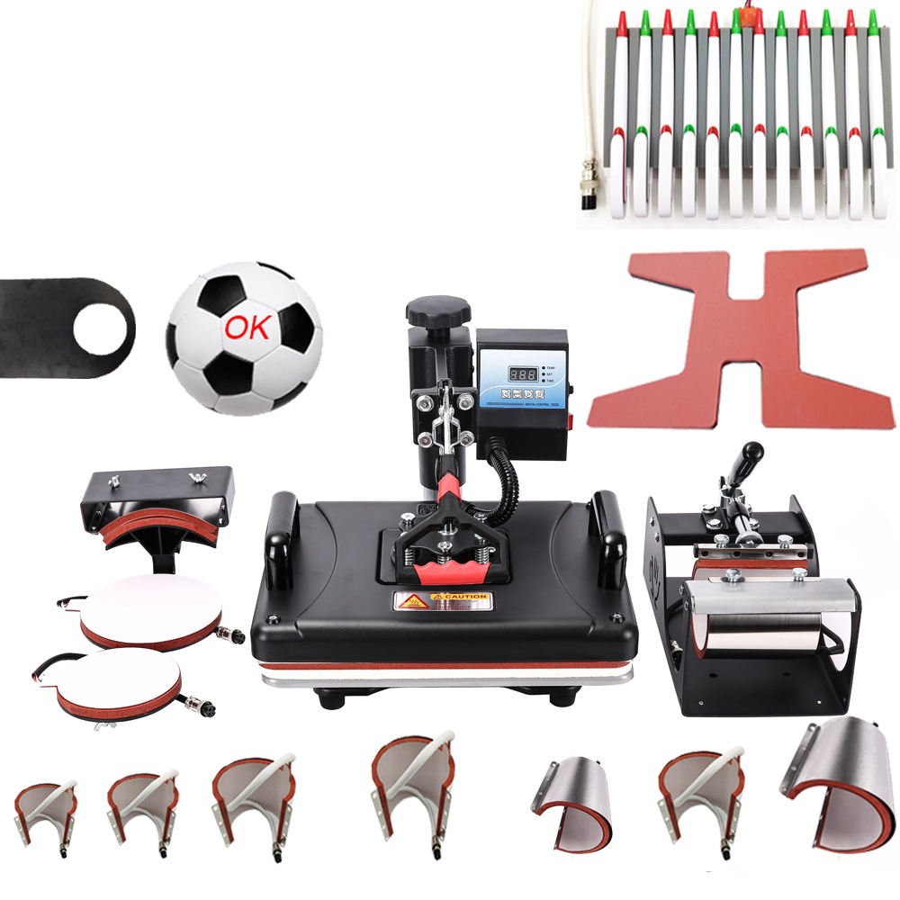 15 In 1 Heat pen Press Machine,Sublimation Printer shoe Transfer Machine Heat Press For Mug Cap Tshirt shoe bottle pen football