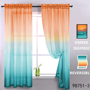 Factory Wholesale Gradient Voile Window Sheer Drapes color Curtains For Living Room gauze Curtain Fabric courtains curtins