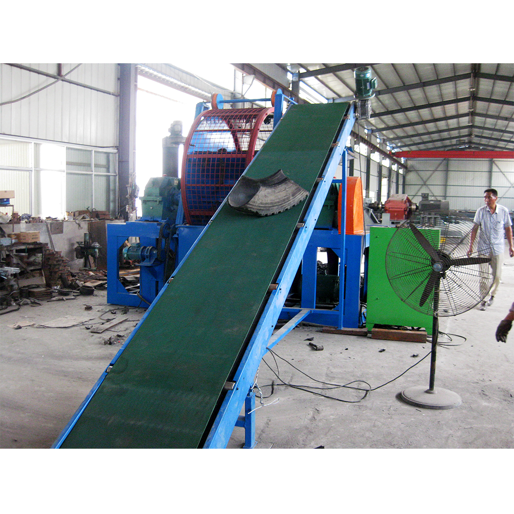 Full automatic customizable waste tire shredding recycling machine / tyre shredder