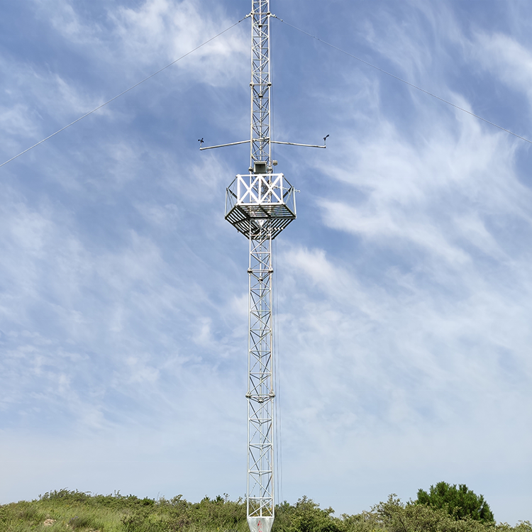 10m-150m guyed steel mast wind tower can be used for island wind measurement