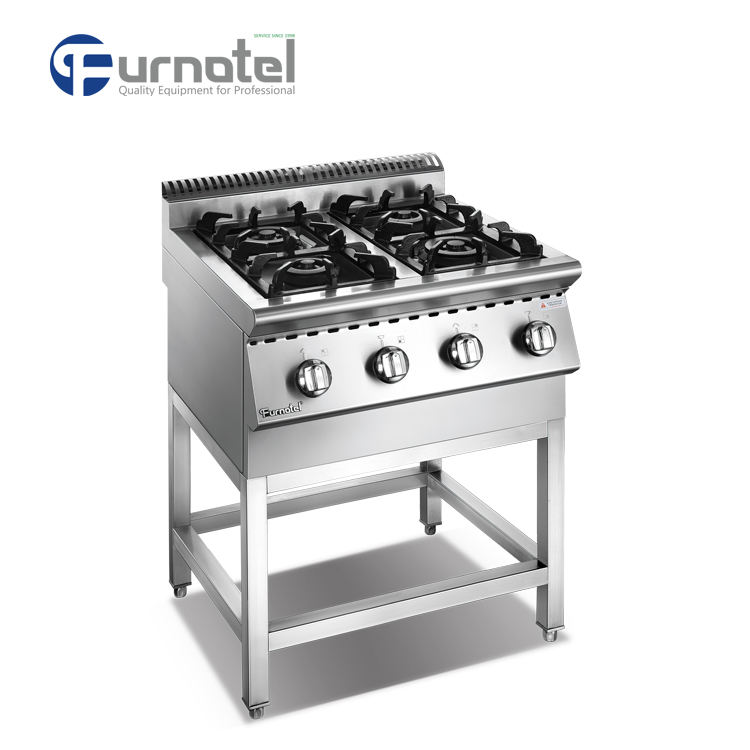 Commercial Kitchen Gas Cooker Range 4 Burner With Stand
