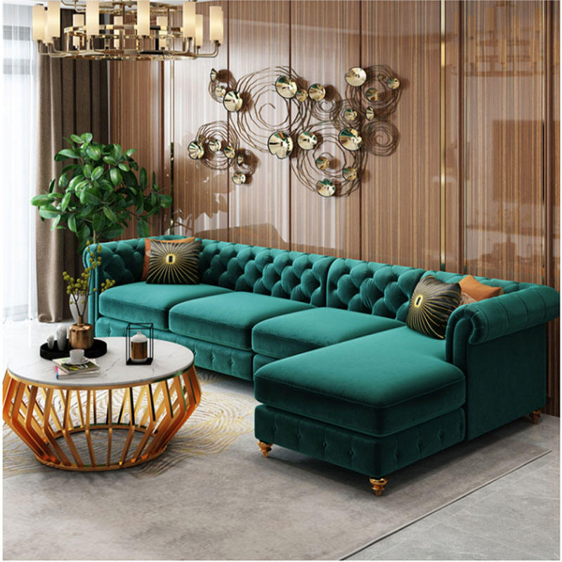 American style light luxury dual purpose sofa small family living room combination brand living room cloth sofa