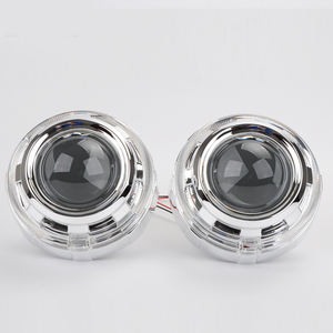 RR China Supplier ! 3.0 Inch Bi Xenon Hid Projector Lens Light Angel Eyes LED Shrouds For Car Parts