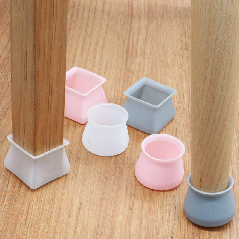Table Foot Dust Cover Socks Floor Protector Anti-Slip Bottom Chair Pads Furniture Table Feet Cover Silicone Chair Leg Protectors